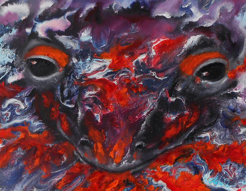 абстрактные картины животных