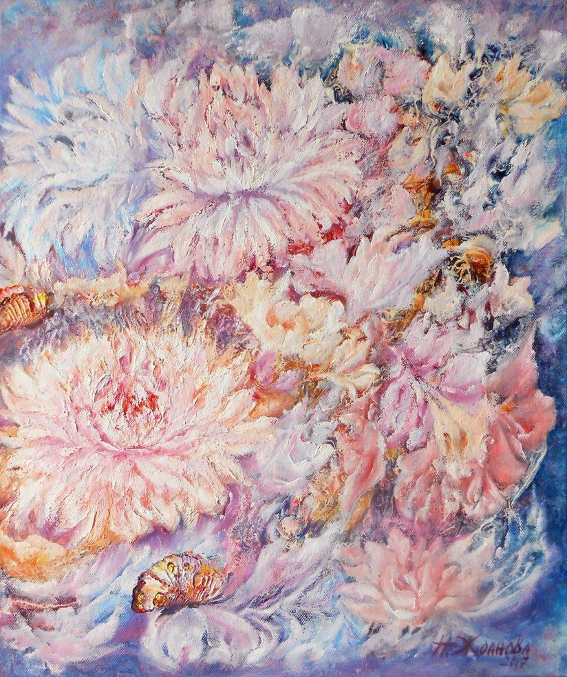 картина маслом цветы абстракция