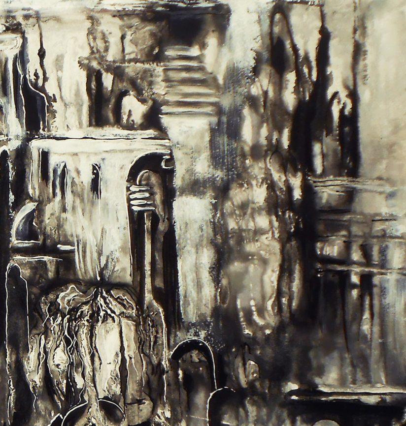картина город абстракция