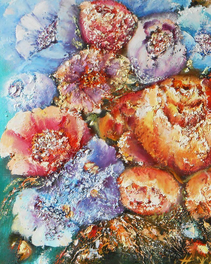 Интерьерная Картина маслом цветы