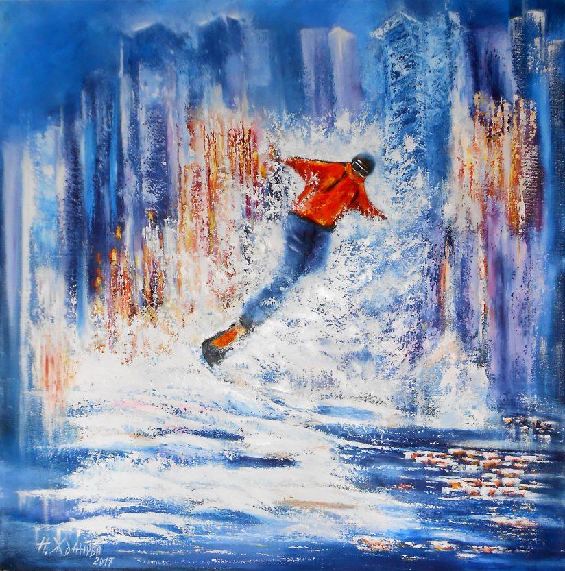 Большая картина на стену Сноубордист