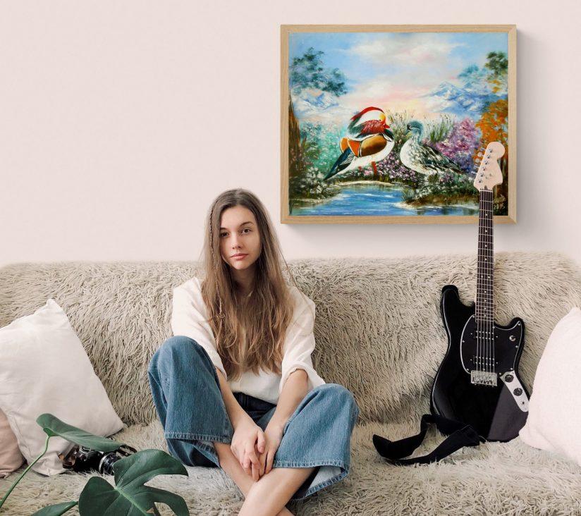 Постер на стену для интерьера Уточки мандаринки
