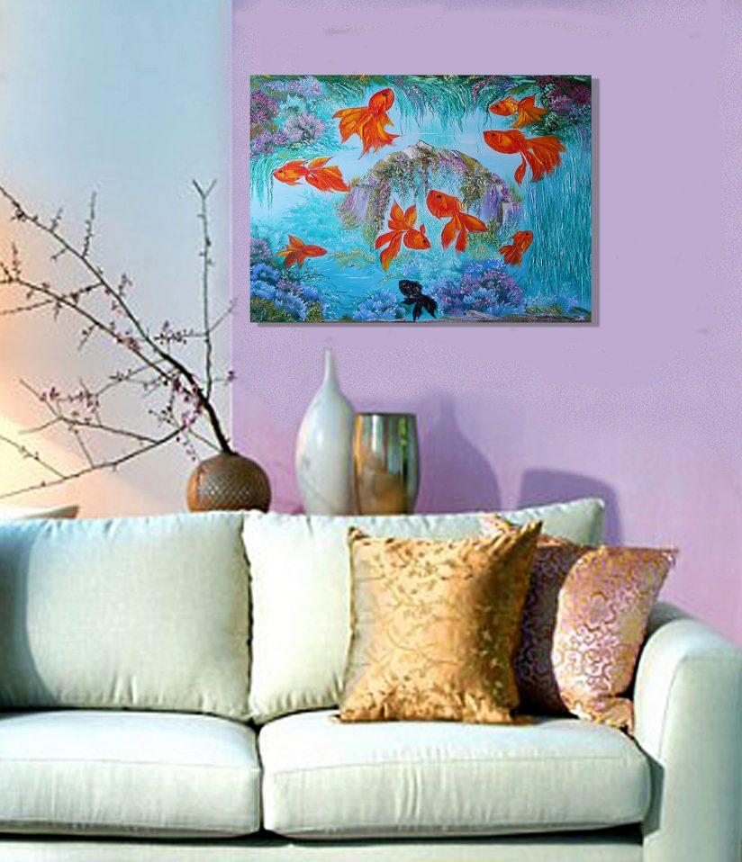 Постер на стену для интерьера Рыбки